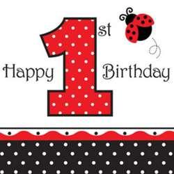 Roter Marienkäfer<BR>1. Geburtstag