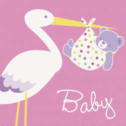 Baby Stork - Pink