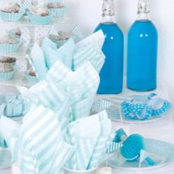 Blue & White Birthday