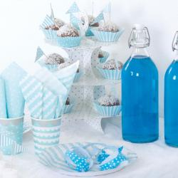 Blau & Weiß Babyshower