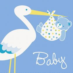 Baby Stork - Blue
