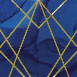 Blue & Gold Geometric - Silvester