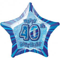 Blue Glitz - 40. Geburtstag