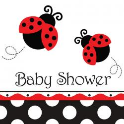 Roter Marienkäfer - Baby Shower
