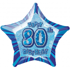 Blue Glitz - 80. Geburtstag